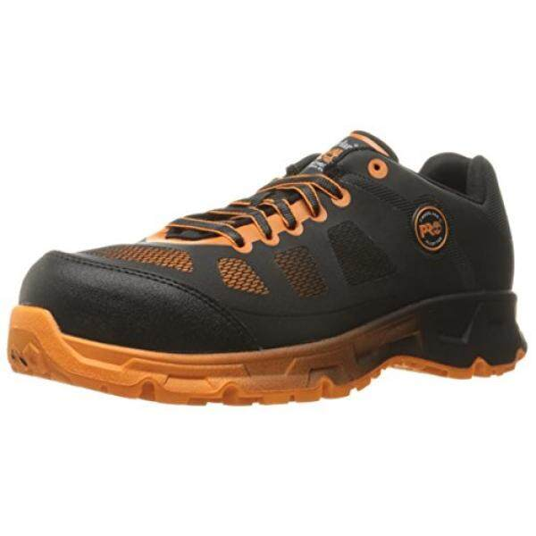 d39bb3c8ffb Buy Timberland PRO Mens Velocity Alloy Safety Toe EH Industrial and  Construction Shoe, Black Synthetic/Orange Pops, US Malaysia