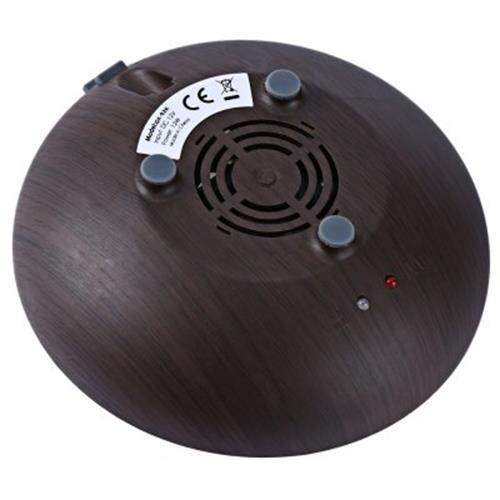 GX DIFFUSER GX - 02K ULTRASONIC LED MINI PERFUME AROMA DIFFUSER AROMATHERAPY ESSENTIAL OIL AIR HUMIDIFIER PURIFIER FOR HOME OFFICE (DEEP BROWN)