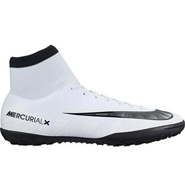 Nike Pria MERCURIALX VICTORY VI CR7 Dynamic Sesuai TF Turf Sepak Bola Cleat Warna Biru, Putih-Internasional
