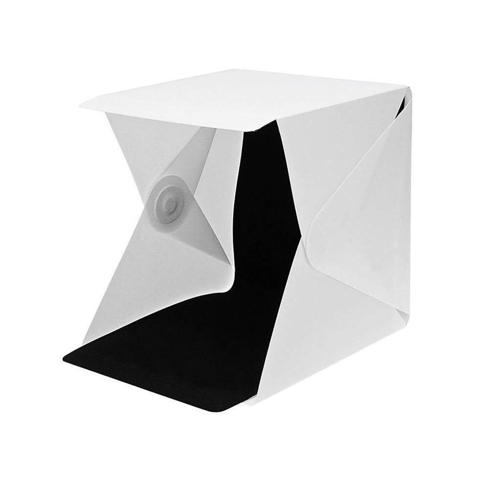 Wanxinkeji Lipat Portabel Mini Lightbox Fotografi Foto Studio, pawaca Tenda Foto Shooting dengan Lampu LED dan Dua Latar Belakang-Internasional