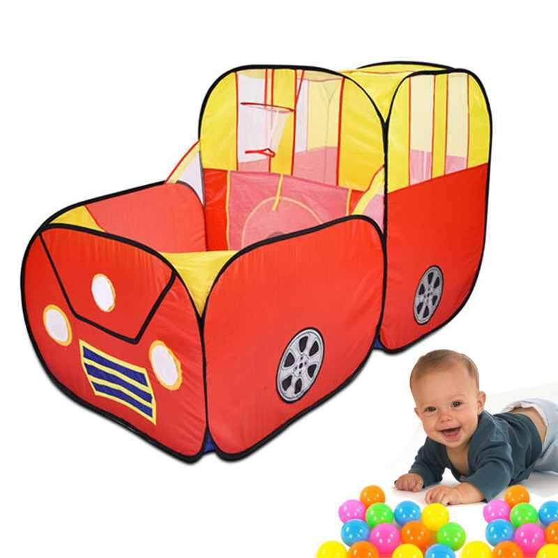 Red Sports Car Kids Play Tent House Play Hut Children Ocean Balls Pit Pool - Intl By Poya.