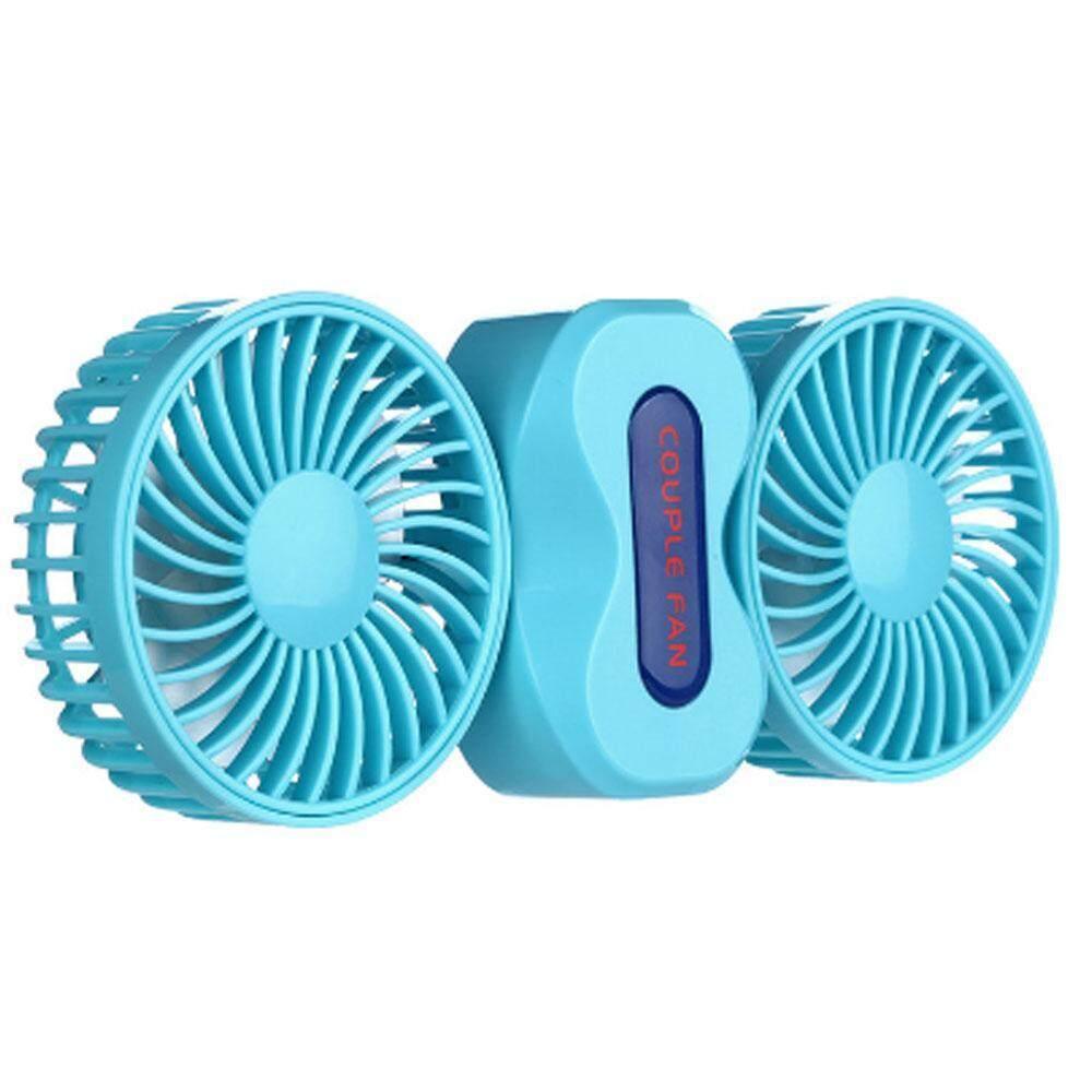 Zonghax Musim Panas Dual Kepala Kipas Angin Pendingin Portable Handheld/Meja Kipas Pendingin Indoor/Outdoor Cooling-Intl
