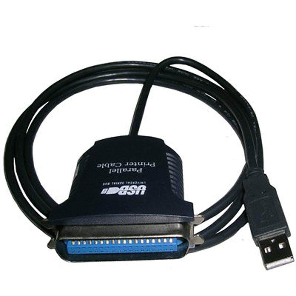 Usb To Parallel Ieee 1284 36 Pin Printer Adapter Cable - Black, 85cm By Treeone.