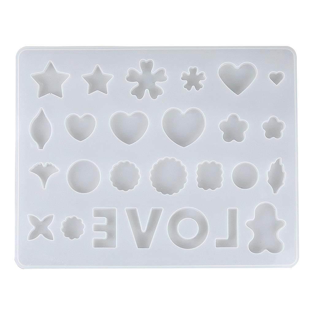 Hình ảnh BolehDeals Đa Khoang Silicone TỰ LÀM Khuôn Nhựa Trang Sức Làm Thủ Công Moulds Dụng Cụ trắng-quốc tế