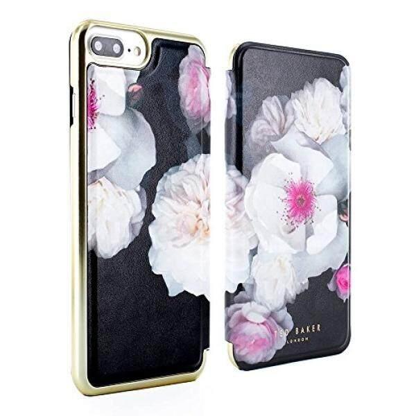 Ted Tukang Roti Resmi AW17 iPhone 8 Plus/7 Plus Case-Mewah Lipat-Belakang Magnetik Folio Sarung untuk wanita dengan Dibangun Di-Dalam Cermin Interior untuk Apple iPhone 8 Plus/7 Plus-Eleasse-Chelsea Hitam- internasional