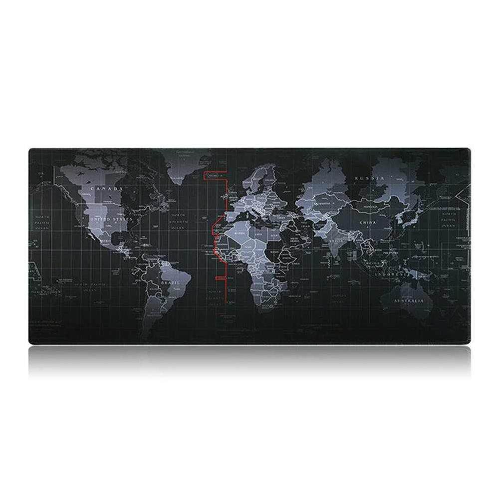 Non-Slip World Map Speed Mouse Pad Mat Laptop Gaming Mousepad Large Size - intl