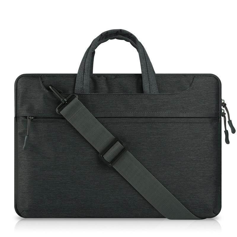 Dengan Harga Murah Tas Tangan Laptop Felt untuk Mac Book Air/Pro/Retina Tahan Air Tempurung Pelindung Casing Notebook 11 Inches Comput Tas (Hitam) -Intl
