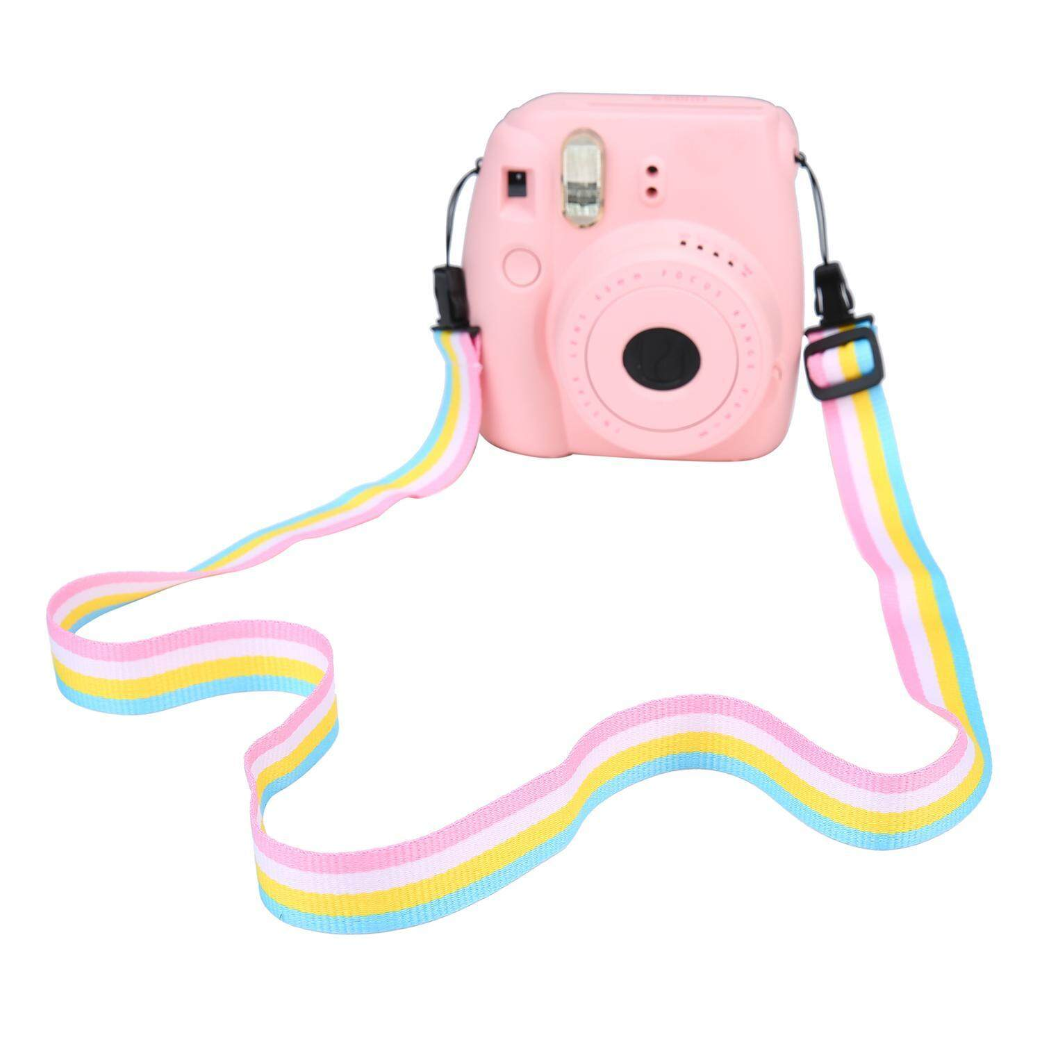 BESTDON Adjustable Camera Neck Shoulder Strap Belt For Digital Camera / Fujifilm Instax Camera Mini 8 / Mini 8+ / Mini 7s / Mini 25 / Mini 26 /Mini 50s / Mini 90, Pink