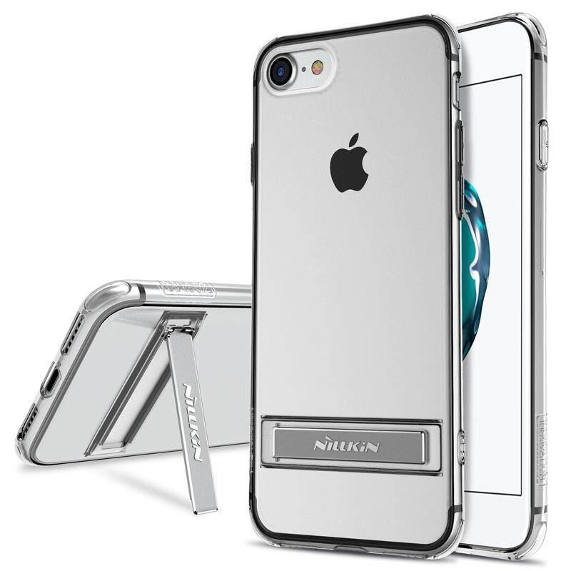 NILLKIN Yg Tahan Pukulan Case untuk iPhone 8 PLUS Transparan Stan Warna-warni Penutup Case Case Dudukan Pelindung (5.5 Inch)-Intl