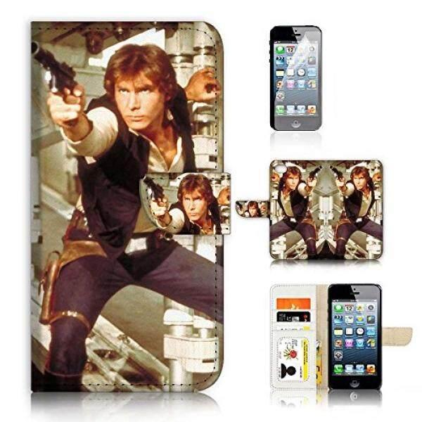 (Untuk iPhone 8 PLUS/iPhone 7 Plus) lipat Dompet Case Sarung & Layar Pelindung Bundel-A21340 Starwars Han Solo-Internasional