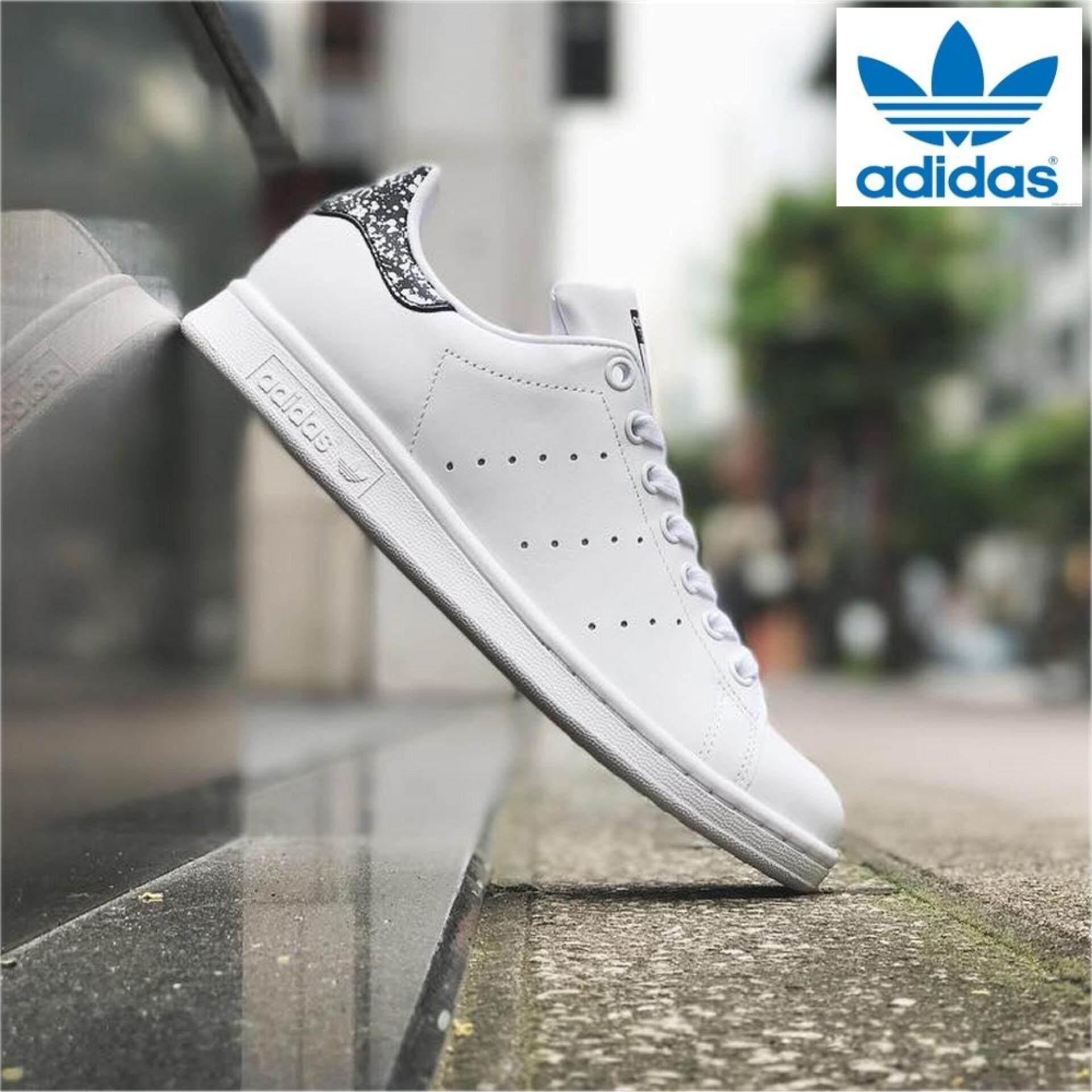 eca8218e14b2 Adidas Women s Originals Stan Smith Shoes BZ0408 White Black Splatter