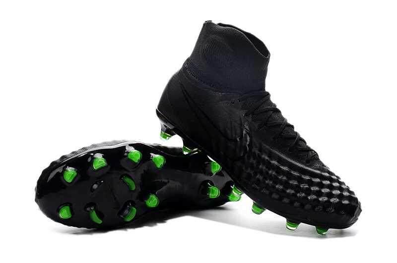 Authentic Classic Men's Magista obra II FG Football Shoes ACC Magista obra II FG High Ankle Soccer Cleats Black - intl