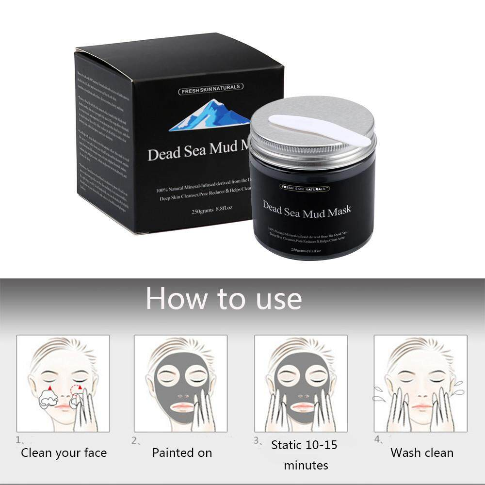 Review 250G Pure Body Naturals Beauty Dead Sea Mud Mask For F*c**l Treatment Intl Terbaru