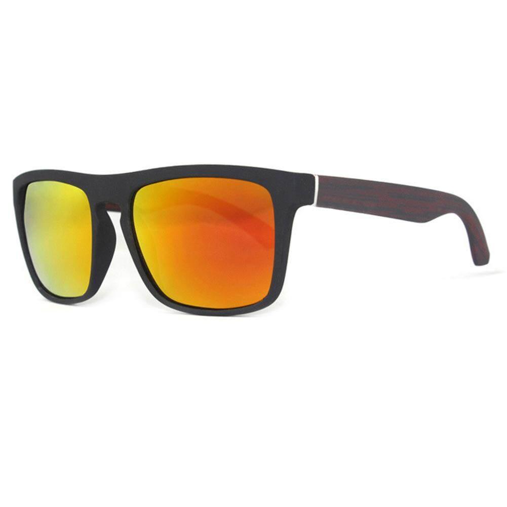 Dsstyles Mans Kacamata Terpolarisasi Kacamata Hitam Retro Persegi Helm Matahari Kacamata untuk Olahraga Luar Ruangan Bersepeda Warna Lensa: C12 Spesifikasi: tanpa Kemasan-Internasional