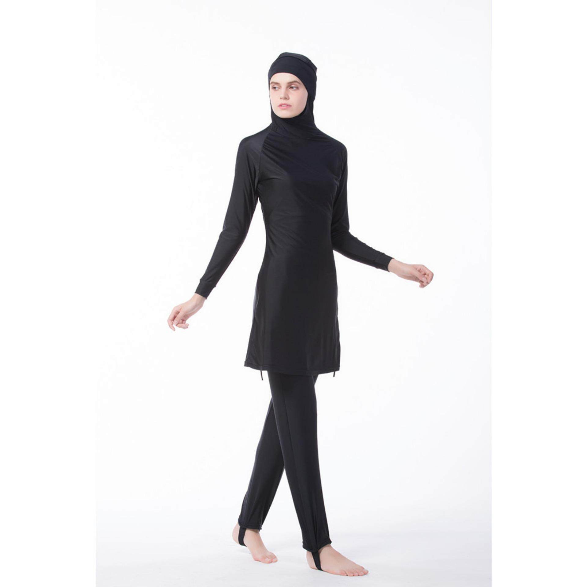 390adc2707d ... Young Women Muslim Swimwear Beach Bathing Suit Muslimah Islamic  Swimsuit Swim Surf Wear Sport Clothing burqini