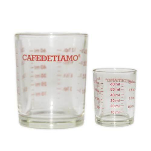 Cafe De Tiamo Coffee Measure Glass Cup 60ml/ 120ml