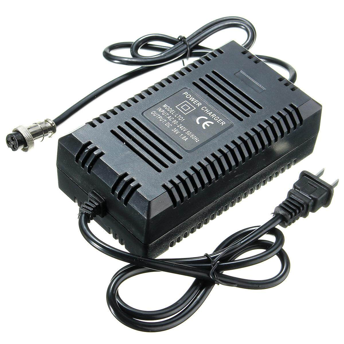 36v Dc 1.6a - 1.8a Amp Battery Charger With Plug For Electric Scooter Bike New By Qiaosha.
