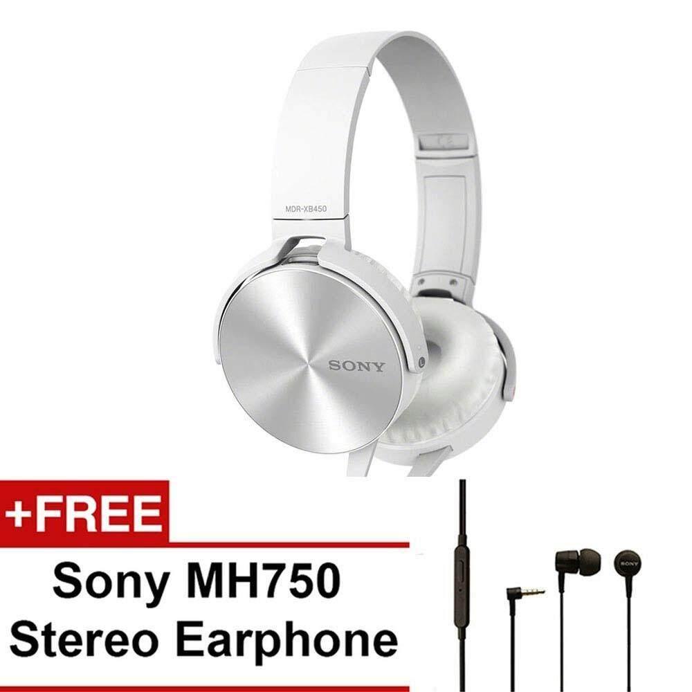 Fitur Headset Earphone Sony Experia Mh750 Original 100 Dan Harga Mdr Xb450ap Extra Bass Headphones