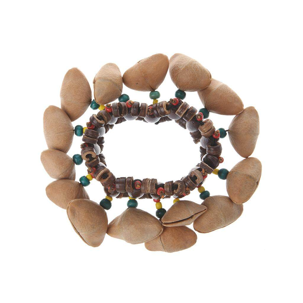 Buatan Tangan Kacang Cangkang Gelang Handbell untuk Drum Afrika Conga Aksesoris-Internasional