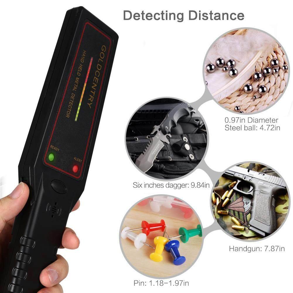 Fcsecurity Detektor Logam Genggam Sensitivitas Dapat Disesuaikan Super Pemindai Tongkat dengan 16 LED Lightsfor Bandara CentOS, Perbatasan, perusahaan Pintu Masuk (9 V-Baterai Isi Ulang Termasuk)