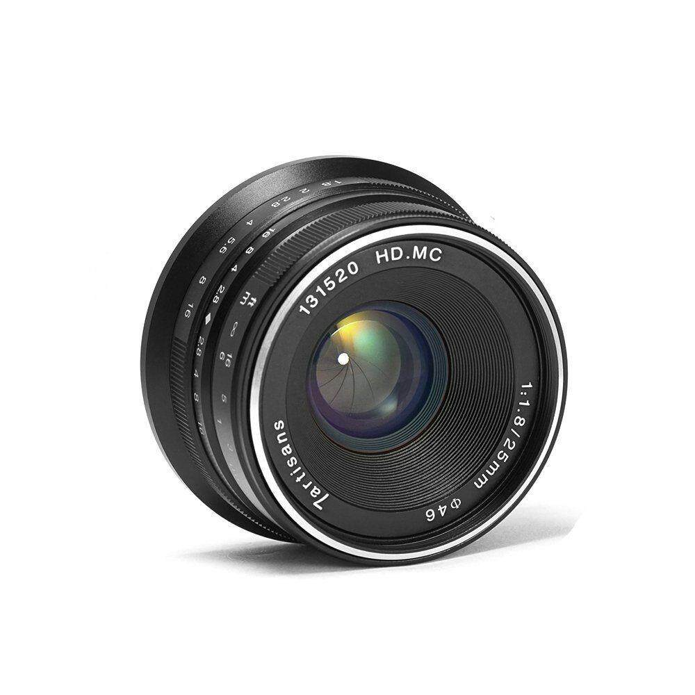 25mm F1.8 Manual Focus Prime Fixed Lens for S0ny Emount Cameras Like A7 A7II A7R A7RII A7S A7SII A6500 A6300 A6000 A5100 A5000 EX-3 NEX-3N NEX-3R NEX-C3 NEX-F3K NEX-5 NEX-5N - Black - intl