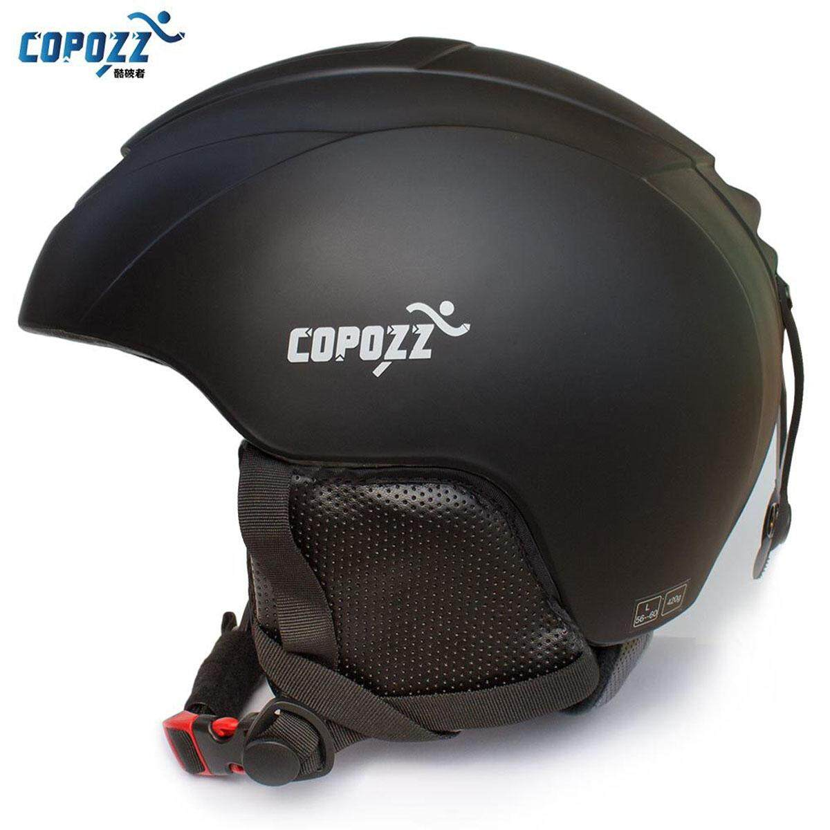 Copozz Ski Helmet Integrally-Molded Snowboard Helmet Men Women Skating Skateboard Skiing Helmet (black).