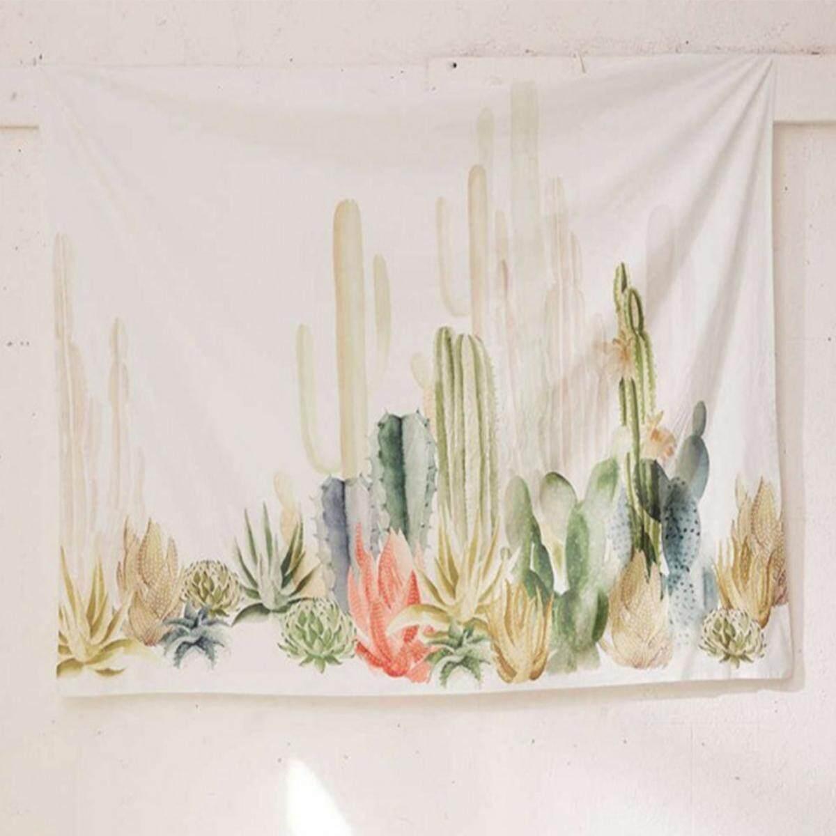 150*150cm Cactus Desert Plant Tapestry Wall Hanging Living Room Dorm Home Decor 2#