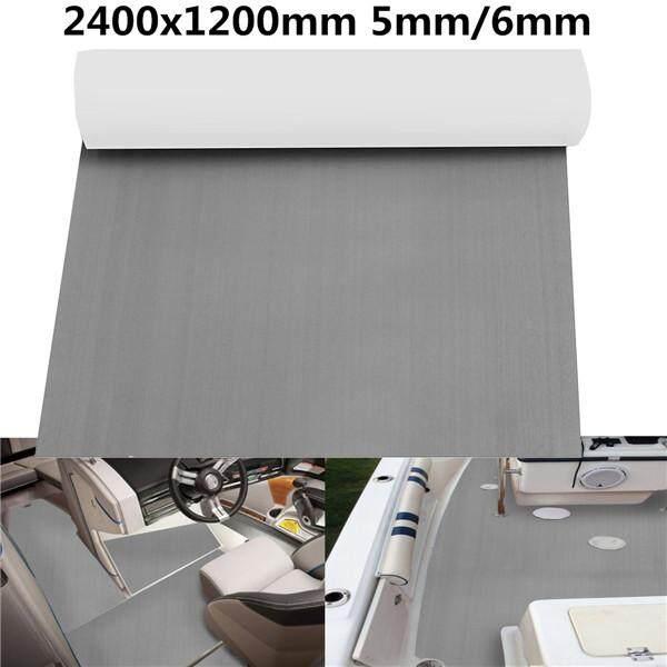 2400x1200mm Gray EVA Foam 5/6mm Boat Flooring Faux Teak Decking Sheet Pad 5mm
