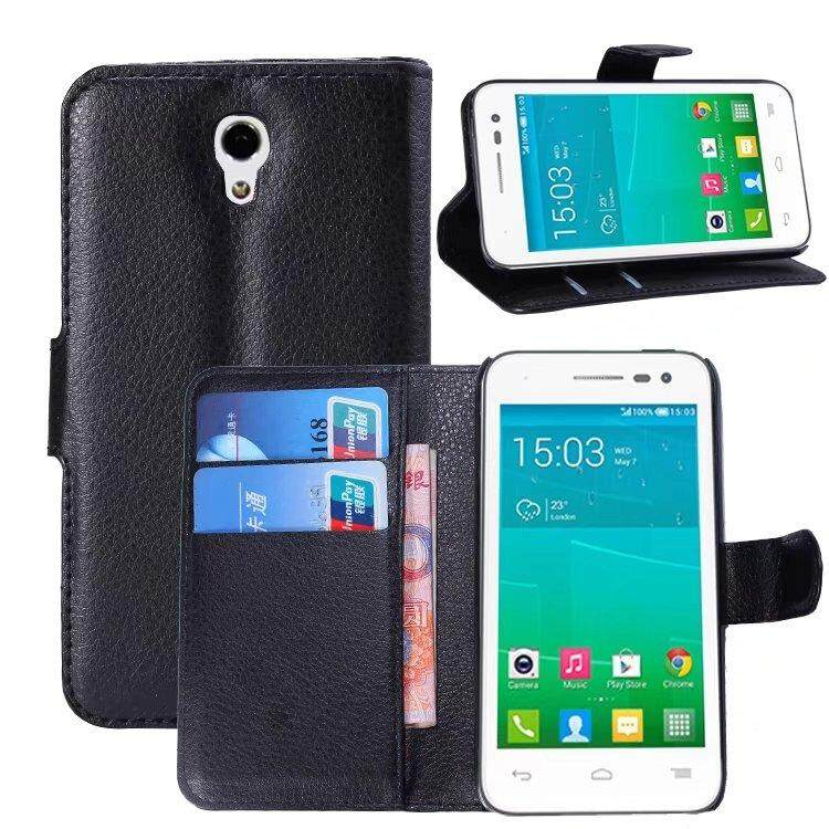 Leather Flip Cover Wallet Card Holder Case For Alcatel POP S3 / OT5050X - intl