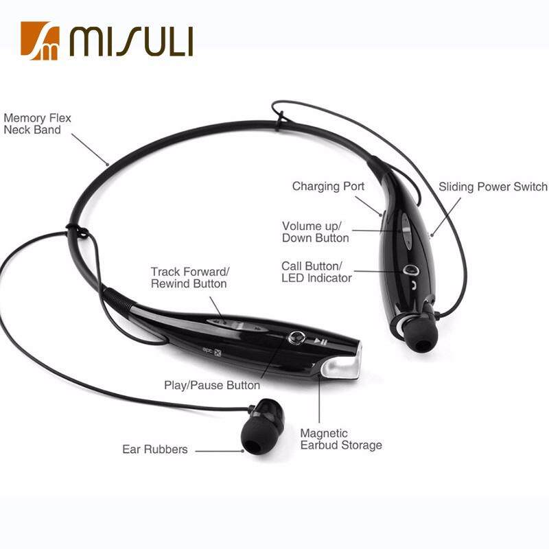 Kompatibel dengan Telepon Seluler dan Perangkat Media Standby Dalam Waktu Lama Panjang Panggilan Headphone Bluetooth HBS