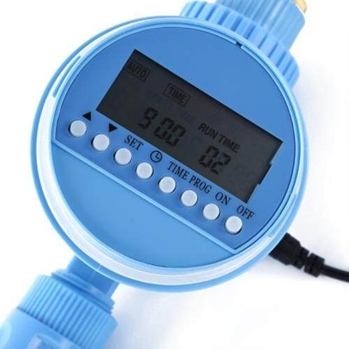 LCD DISPLAY AUTOMATIC RECHARGEABLE GARDEN IRRIGATION CONTROLLER (WINDSOR BLUE)