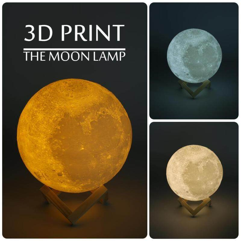 Bảng giá 3D Moon Lamp USB LED Night Moonlight Gift Touch Sensor 3 Colors Changing For Kids(10cm)