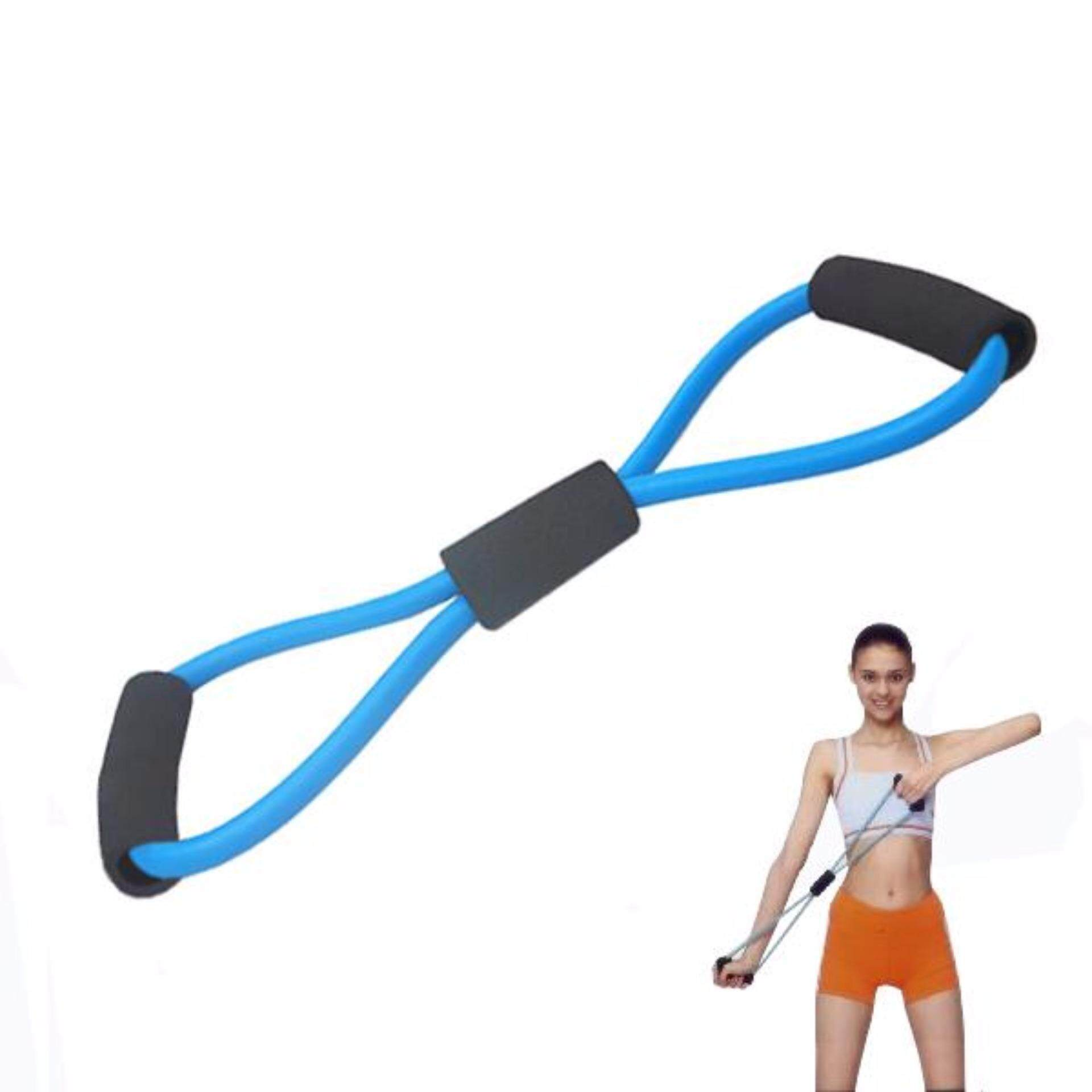 Yoga Resistance Training Bands Tube Workout Exercise Body Stretch