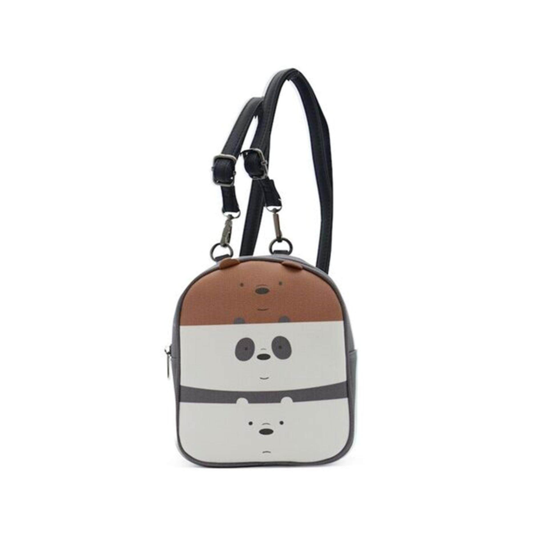 We Bare Bears Crossed Body Bag 7.5 Inches - Multicolour