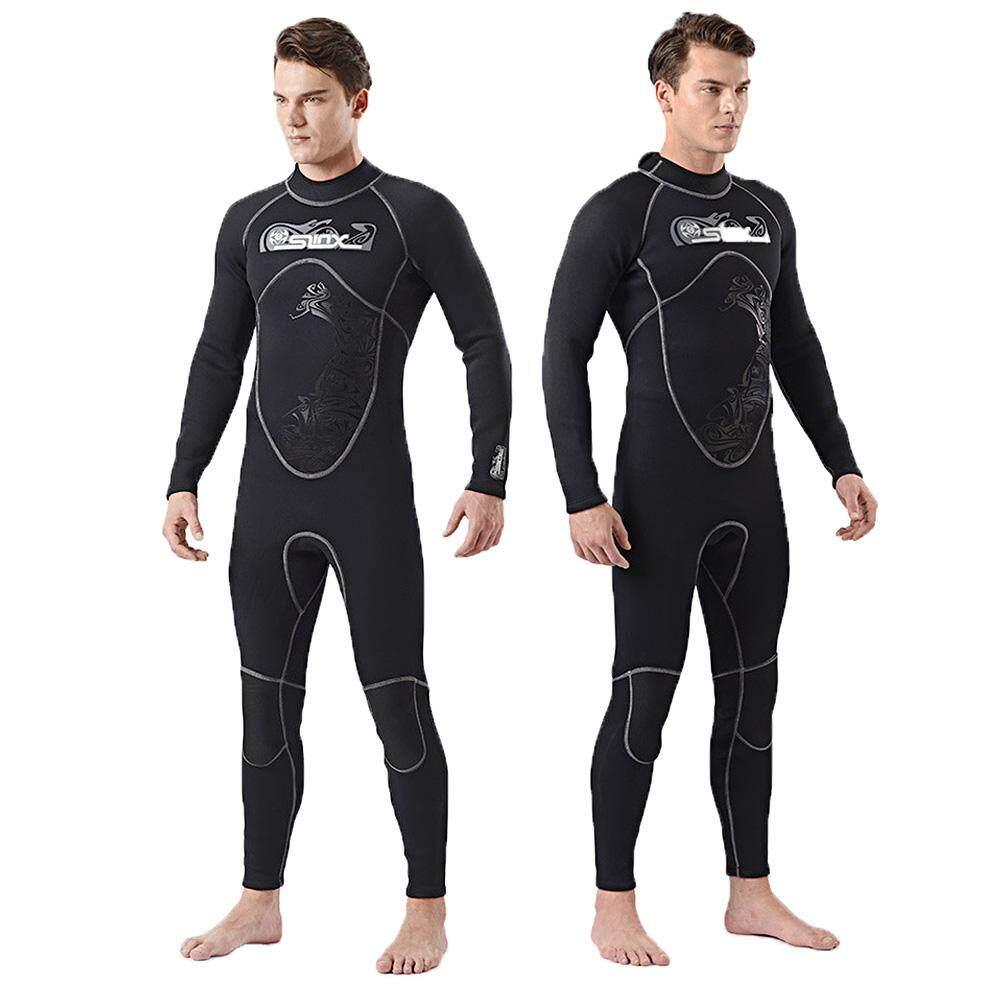 544b1a7df9 Superelastic 3mm Neoprene Wetsuit Men Frogman Scuba Dive Diver Wet Suit  Towel Lining Winter Swim Surf
