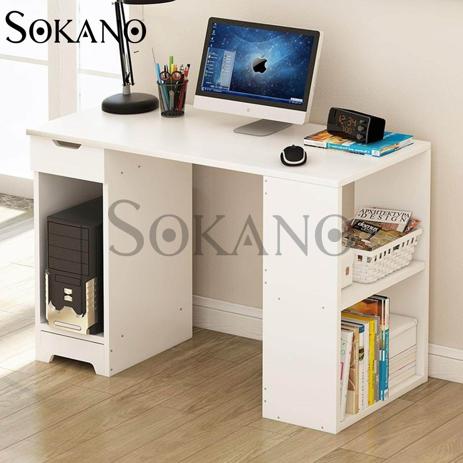 Sokano B2174 Premium Classic Writing Table And Dekstop Wooden Desk White 21809a Malaysia