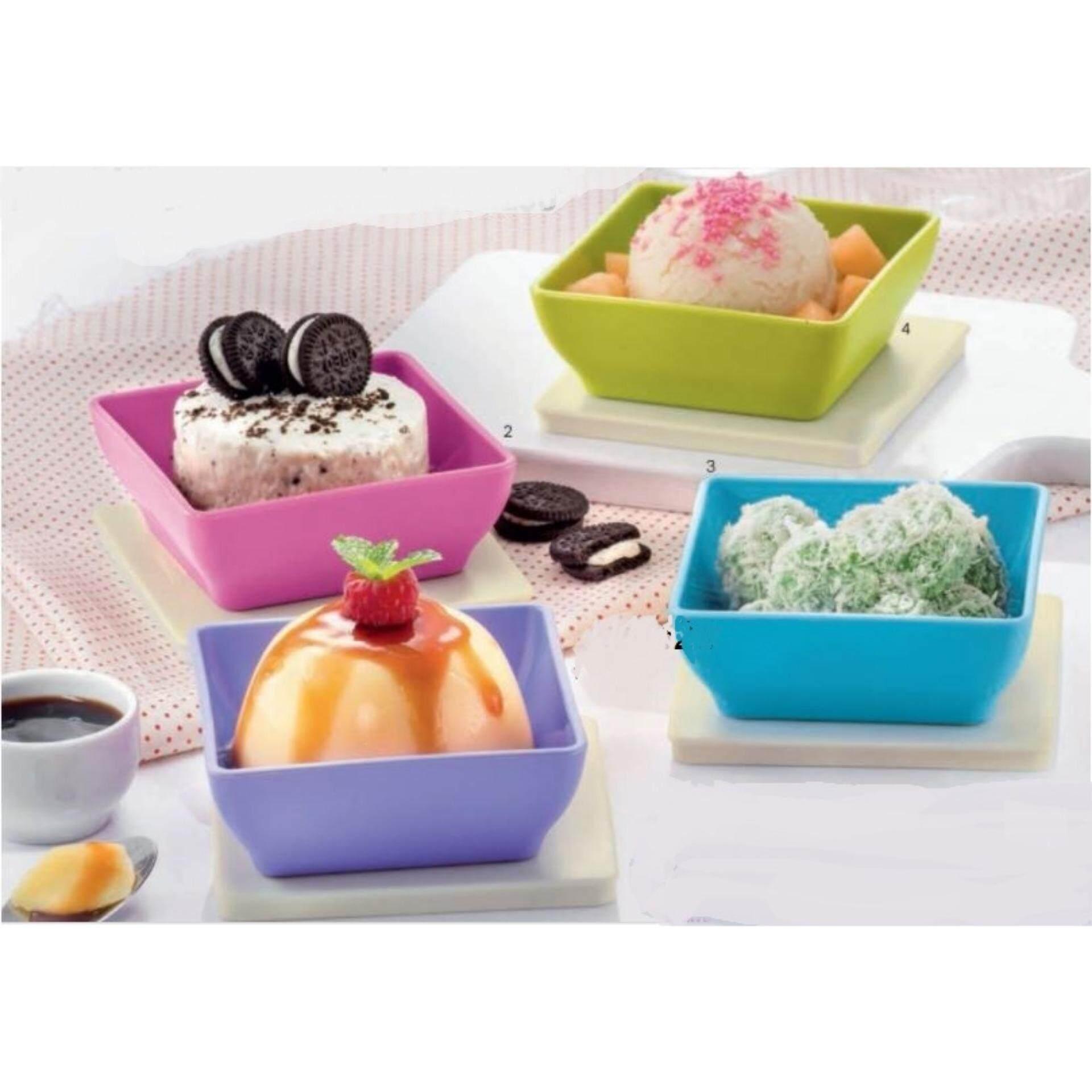 Cek Harga Tupperware Square Round Set 4pcs 400ml Terbaru Large Summer Fresh 18l Multi Colour Zen Small 4 200ml