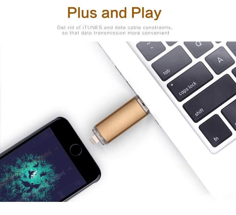 2 in 1 logam tahan air smartphone otg 64 gb usb flash drives .