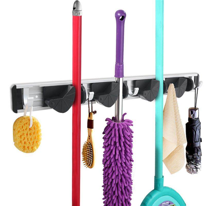New Mop Broom Holders Wall Mounted Organizer Brush Storage Hanger Rack Tool 2 Racks By Glimmer.