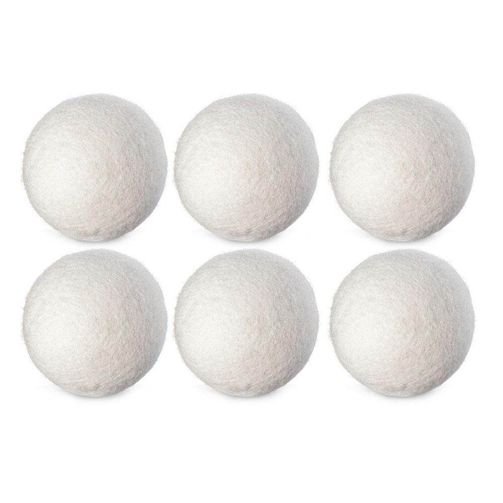yukufus 6Pcs/SET Natural Reusable Laundry Clean Ball Practical Home Wool Dryer Balls - intl