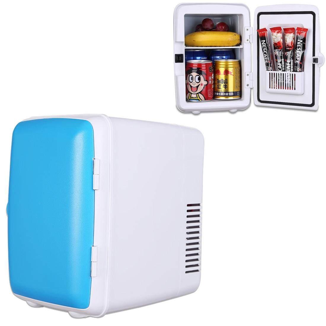 Vehicle Otomatis Portabel Mini Cooler dan Lebih Hangat 4L Kulkas untuk Mobil dan Rumah, Tegangan: DC 12 V/AC 220 V (Biru)-Internasional