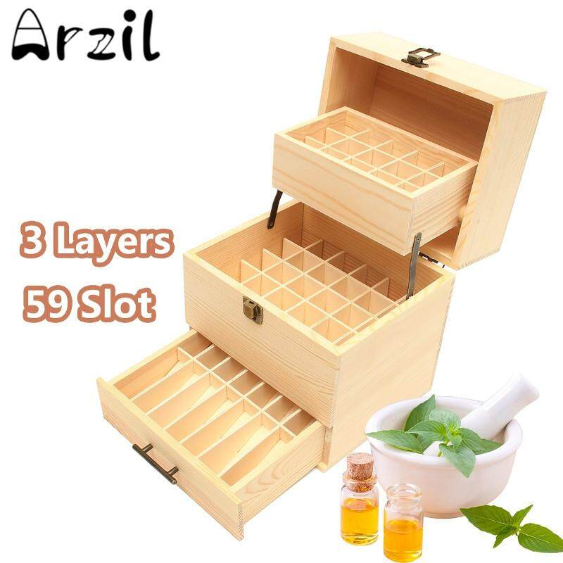 Essential wooden box three layers of high grade 3, 59 essential storage box folding wooden box - intl