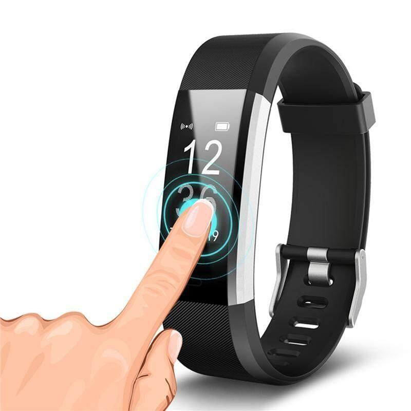 Ek 115 Plus GPS Gelang Pintar Monitor Denyut Jantung Kebugaran Pelacak Langkah Kontra Aktivitas Tali Jam