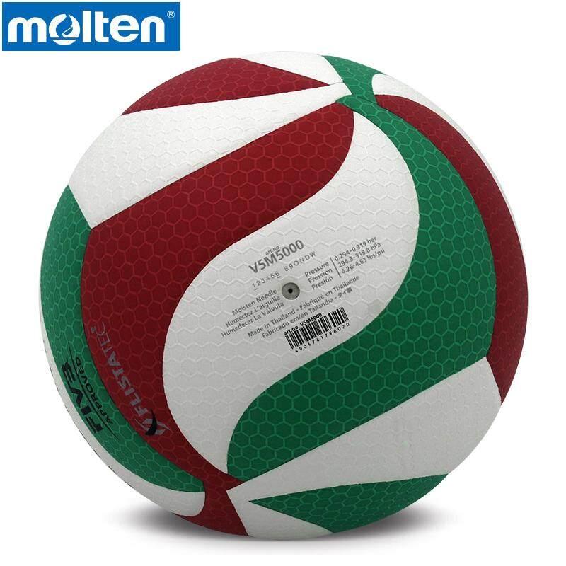 Asli Molten Bola Voli V5M5000 Kualitas Tinggi Merek Baru Asli Molten Bahan PU Ukuran Resmi 5