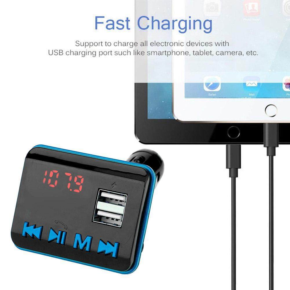 Features Wireless Bluetooth Hands Free Car Kit Fm Transmitter Mp3 Mobil T11 In Handsfree Call Usb Charger Player 2