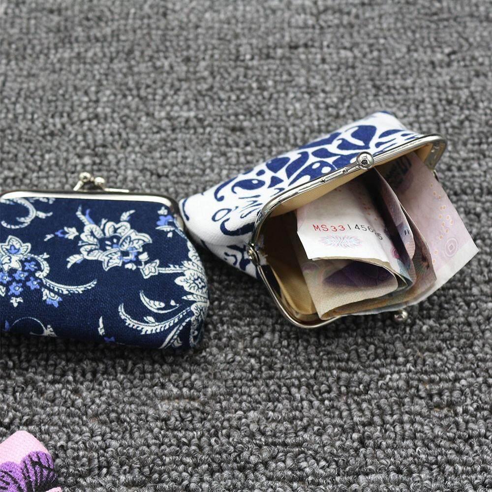 Wanita Wanita Vintage Jaman Dulu Bunga Pengait Dompet Kecil Tas Tangan Bu Radocie