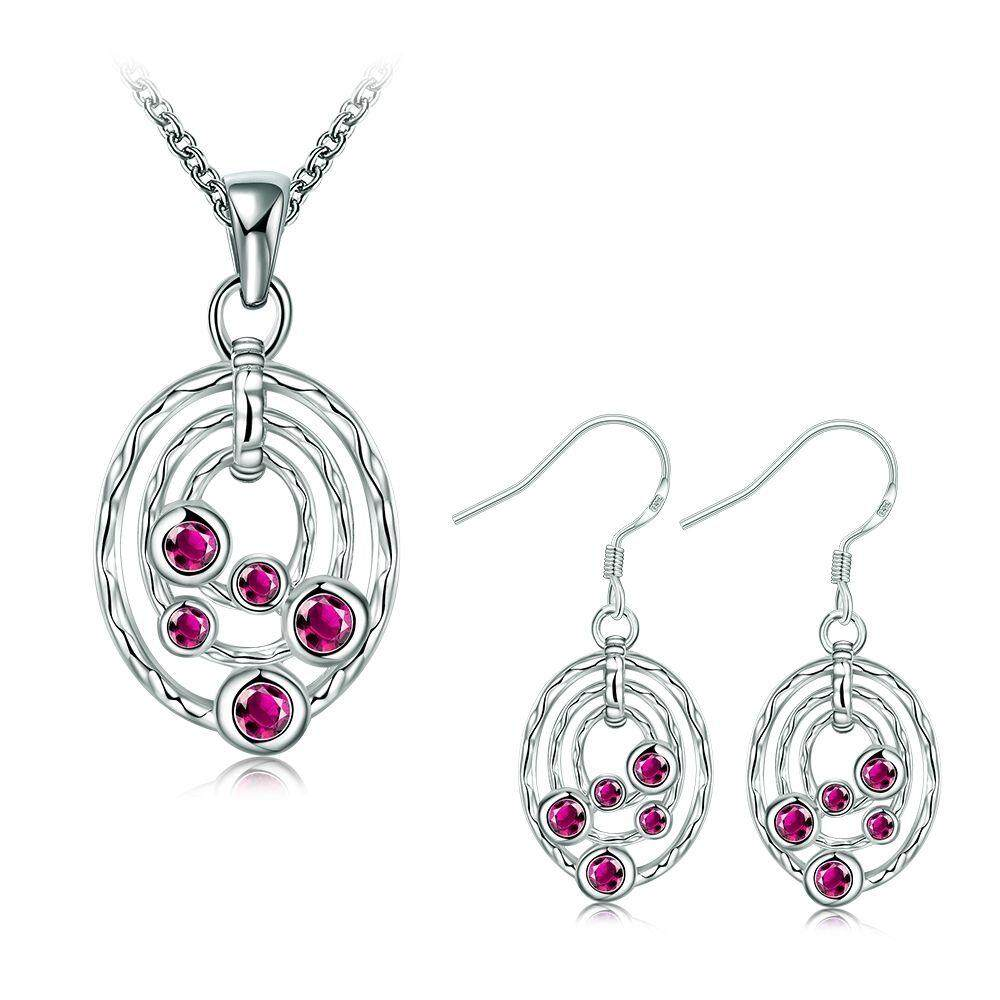 Free Shipping New Women Fashion popular 925 silver plated jewelry sets for sale