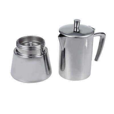 Stainless Steel Mocha Espresso Latte Percolator Coffee Maker Pot (SILVER)