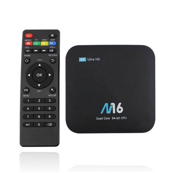 M16 Amlogic S905X 1 GB Ram 8 GB ROM Televisi Kotak EU Steker-Internasional