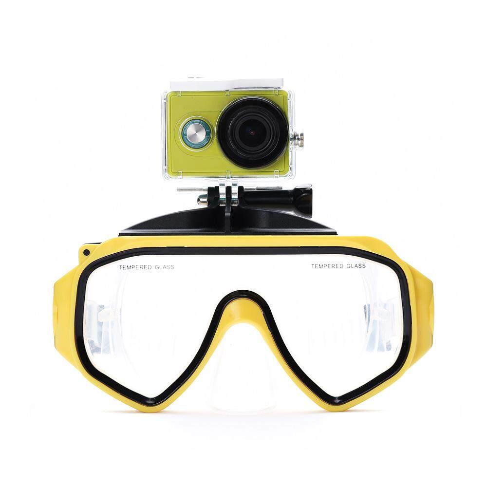 Menyelam Masker Kamera Aksi Aksesoris Scuba Menyelam Google Snorkeling Silikon Kaca Melunakkan Kacamata Olahraga untuk Xiaomi Xiaoyi Kamera-Internasional
